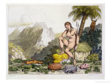 South American Indian Woman Giclee Print by Adolphe Joseph Thomas Monticelli