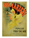 "Poster Advertising ""Mariani Wine, Popular French Tonic Wine"" Giclee Print by Jules Chéret"