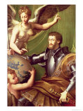 Emperor Charles V Receiving the World, circa 1529 Giclee Print by Parmigianino 