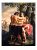The Education of Achilles by Chiron, 1746 Gicle-tryk af Pompeo Batoni