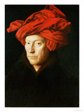 A Man in a Turban, 1433 Giclee Print by Jan van Eyck 