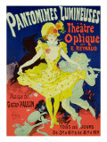 "Reproduction of a Poster Advertising ""Pantomimes Lumineuses"" at the Musee Grevin, 1892 Premium Giclee Print by Jules Chéret"