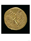 Aureus of the Deified Claudius Minted under Nero Depicting a Chariot with Four Horses Giclee Print