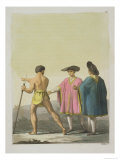 Men Wearing Ceremonial Ponchos in Santiago, Chile Giclee Print by Gallo Gallina