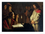 Christ Before Caiaphas Giclee Print by Gerrit van Honthorst