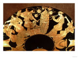 Attic Red Figure Kylix Depicting Dionysus and the Maenads, by the Painter Makron, circa 490-80 BC Giclee Print
