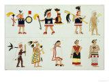 Montezuma II as Represented in an Anonymous Codex in the Vatican Giclee Print by D.k. Bonatti