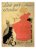 Pure Sterilized Milk from La Vingeanne', 1894 (Colour Litho) Giclee Print by Théophile Alexandre Steinlen
