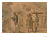 Garlic and Onion Sellers, 1826 Giclee Print by Jean Baptiste Debret