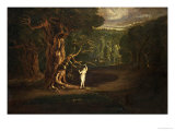 "Satan Tempting Eve, from ""Paradise Lost"" by John Milton Giclee Print by John Martin"