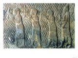 Relief Depicting Musicians, Assyrian, from Nineveh, Iraq, circa 695 BC Giclee Print