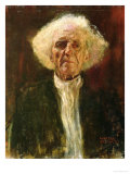 Study of the Head of a Blind Man Reproduction procédé giclée par Gustav Klimt