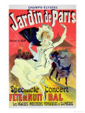 "Reproduction of a Poster Advertising the ""Jardin De Paris"" on the Chanps Elysees, 1890 Premium Giclee Print by Jules Chéret"