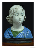 Bust of a Young Boy Giclee Print by Andrea Della Robbia