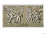 Bas Relief of Ancient Aztec Warriors Giclee Print by D.k. Bonatti