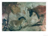Rock Painting Showing a Horse and a Cow, circa 17000 BC Giclee Print by  Prehistoric