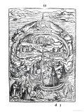 Map of the Island of Utopia, Book Frontispiece, 1563 Giclee Print