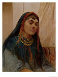 Portrait of a Middle Eastern Girl, circa 1859 Giclee Print by Frederick Goodall