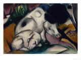 Pigs, circa 1912 Giclée-Druck von Franz Marc