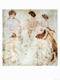 Dice Players, Herculaneum, 1st Century AD Giclee Print