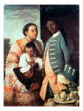A Half-Breed and His Lobo Indian Wife and Their Child Giclee Print