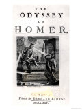 Title Page for &quot;The Odyssey&quot; by Homer Giclee Print by William Kent