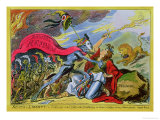 Death or Liberty! Or, Britannia and the Virtues of the Constitution in Danger of Violation Giclee Print by George Cruikshank