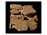 Part of the Epic of Gilgamesh Telling the Babylonian Legend of the Flood, from Nineveh Giclee Print by Assyrian 