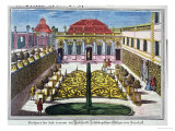 The Gardens of the Mirabelle Park Salzburg Austria Giclee Print by Mathias Diesel