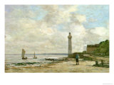Lighthouse at Honfleur, 1864-66 Reproduction proc&#233;d&#233; gicl&#233;e par Eug&#232;ne Boudin