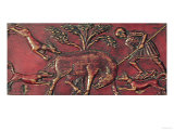 Boar Hunt, Plaque from a Byzantine Casket, 11th Century Giclee Print