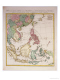 Southern Asia from China to New Guinea Premium Giclee Print by Johannes & Mortier Covens