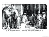 Jews in the Synagogue in Amsterdam, Enraved Giclee Print by  Rembrandt van Rijn