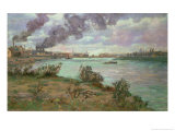 The Banks of the Marne at Creteil, circa 1888, Paul Cezanne, Giclee Print