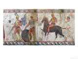 Foot Soldiers and Cavalry, Tomb Painting from Paestum Giclee Print