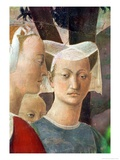 The Legend of the True Cross, the Queen of Sheba Worshipping the Wood of the Cross Giclee Print by  Piero della Francesca