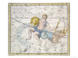"Aquarius and Capricorn, from ""A Celestial Atlas,"" Published in 1822 Giclee Print by A. Jamieson"