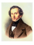 Portrait of Felix Mendelssohn Reproduction procédé giclée par Friedrich Jentzen
