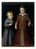Francesco and Caterina De Medici Giclee Print by Cristofano Allori