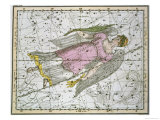 "Virgo, from ""A Celestial Atlas,"" Published in 1822 Giclee Print by A. Jamieson"