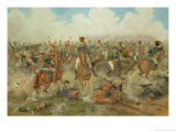 The Battle of Waterloo, June 18th 1815 Lmina gicle por John Augustus Atkinson