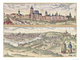 View of Prague Showing the Imperial Palace and the Vltava River Giclee Print