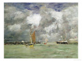 High Tide at Trouville, circa 1892-96 Gicl&#233;e-Druck von Eug&#232;ne Boudin