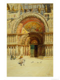 The Entrance to St. Mark's, Venice Giclee Print by Reginald Barratt