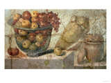 "Still Life with Bowls of Fruit and Wine-Jar, from the ""Casa Di Giulia Felice"" Giclee Print"