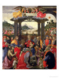 The Adoration of the Magi, 1488 Giclée-tryk af Domenico Ghirlandaio