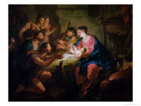 The Adoration of the Shepherds, 1725 Giclee Print by Jean Francois de Troy