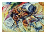 Dynamism of a Cyclist (Dinamismo Di Un Ciclista) 1913 (Oil on Canvas) Giclee Print by Umberto Boccioni