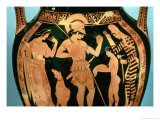 Attic Red Figure Vase Depicting a Soldier Taking Part in a Divination Ritual Giclee Print by Kleophrades Painter 