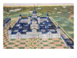 "Plan of the Monastery of El Escorial, from ""Civitates Orbis Terrarum"" Giclee Print by Joris Hoefnagel"